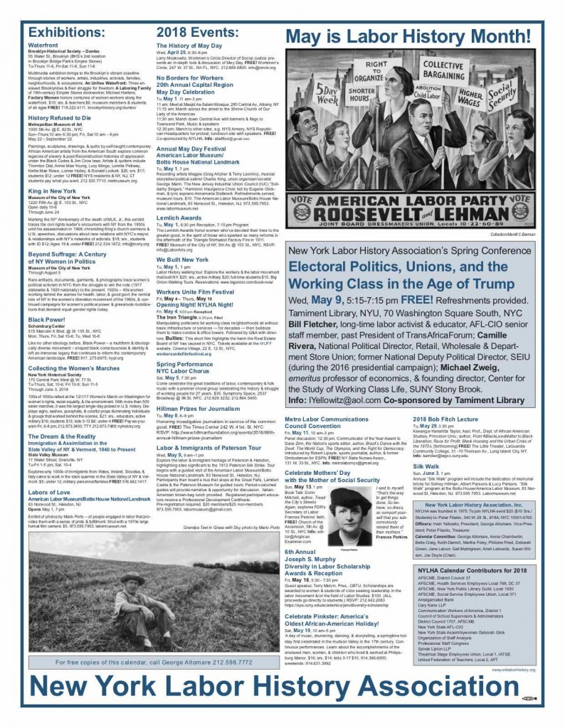 May is Labor History month 2018